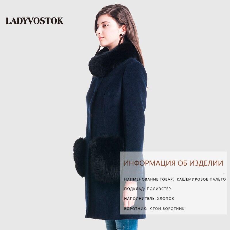 ... ladyvostok зимнее пальто натуральный мех кашемировое пальто воротник из  меха песца женское пальто одежда для женщин ... 1a3ef726d0fc7