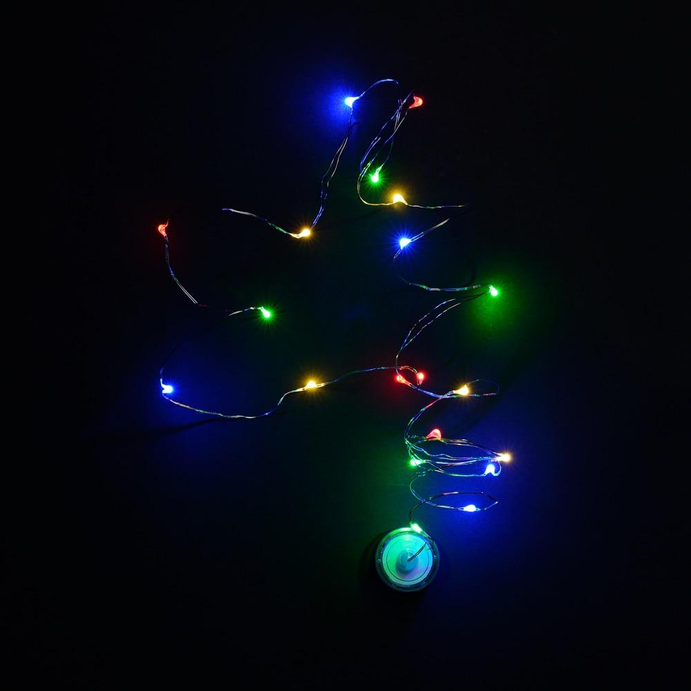 Božić 2M Led Coper Žica String Svjetla Baterija Fairy Light String - Rasvjeta za odmor - Foto 3