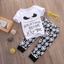 New Autumn baby boy and girl clothes set cotton short sleeve letter t-shirt+pants infant 2pcs suit newborn baby clothing set 19