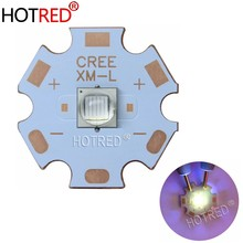 1 PCS Epileds 5050 XML T6 10 W UV LED ersetzen CREE XML2 Lila 365nm 370nm Emitter Diode Licht für taschenlampe Schmuck erkennung