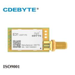 E31-433T17D AX5043 433 mhz 50 mW SMA Antena de Longo Alcance uhf Transceptor Sem Fio 433 mhz Receptor Transmissor rf Módulo IoT
