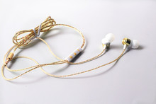 Cruved Metal Stereo Audio Earphone Earbud MIC for Mp3 MP4 1000pcs/lot