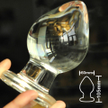 60mm large size pyrex glass anal dildo butt plug big crystal anus bead ball Sex toys for women men gay male masturbator product