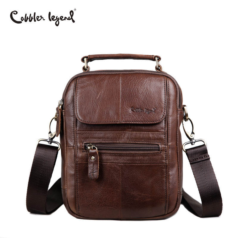 Cobbler Legend Men Messenger Bags Genuine Leather Handbag Shoulder Bag Famous Brand Business Crossbody Bag Bolsa Masculina men genuine leather bag business men bags briefcase luxury shoulder bags laptop crossbody messenger bag handbag bolsa masculina
