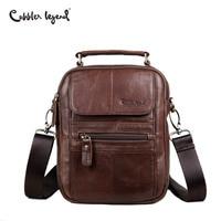 Cobbler Legend Men Messenger Bags Genuine Leather Handbag Shoulder Bag Famous Brand Business Crossbody Bag Bolsa