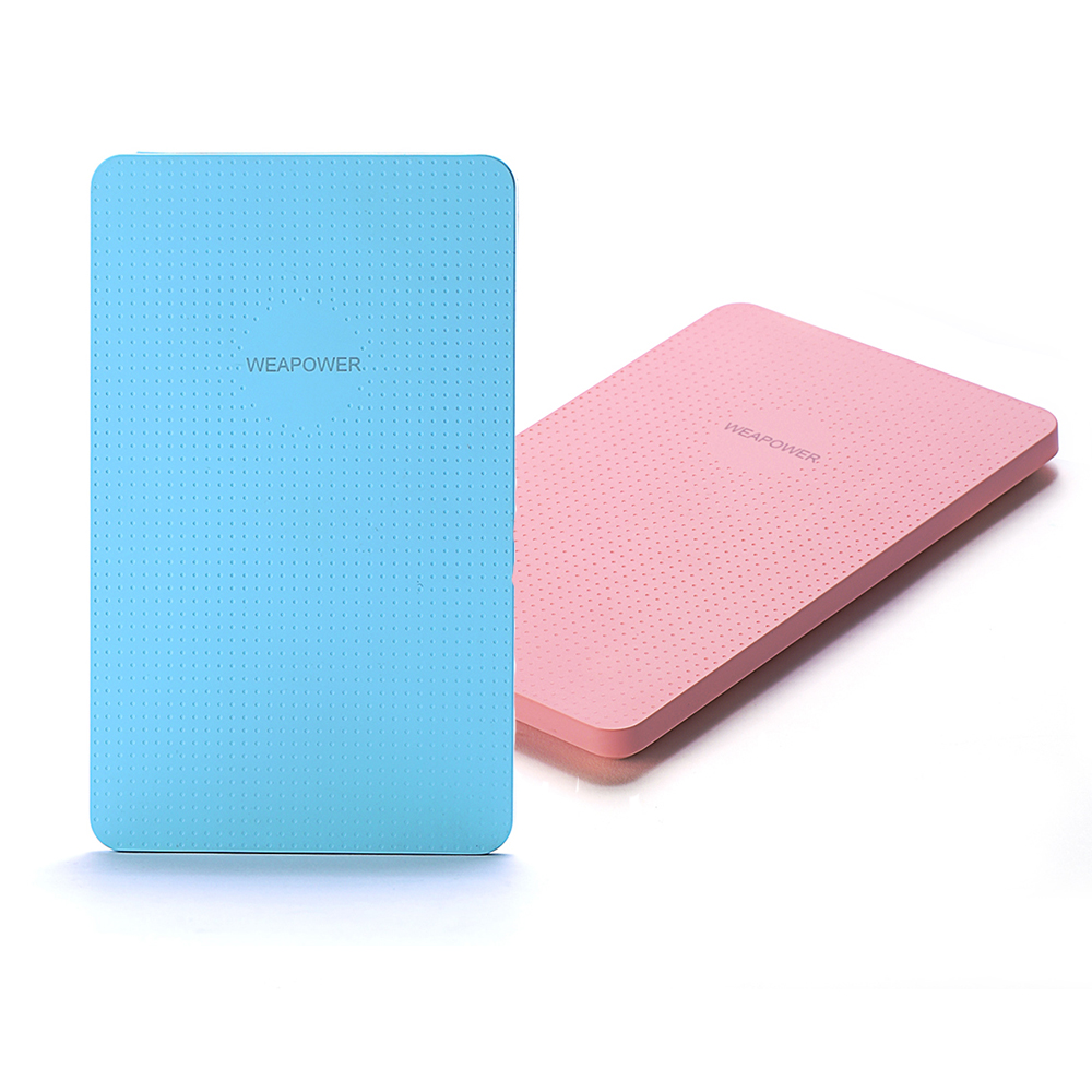 Latest Fashion Mobile Phone Mobile Power 5000mAh Four Colors Ultra Thin Mobile Power Bank Rechargeable Battery