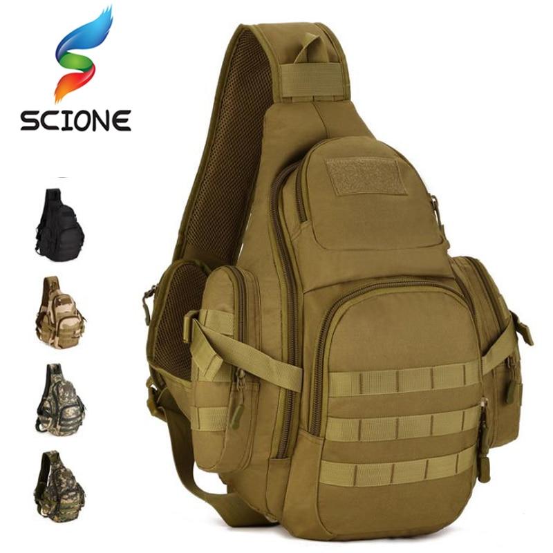 Hommes 20-35L sac à bandoulière tactique sac à bandoulière étanche sac de sport tactique militaire sacs à dos Camping en plein air unique ceinture poitrine Pack