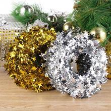 10pcs 7.5m Cord Xmas Pentagram Pendant Decor For Christmas Tree Decoration Ornaments