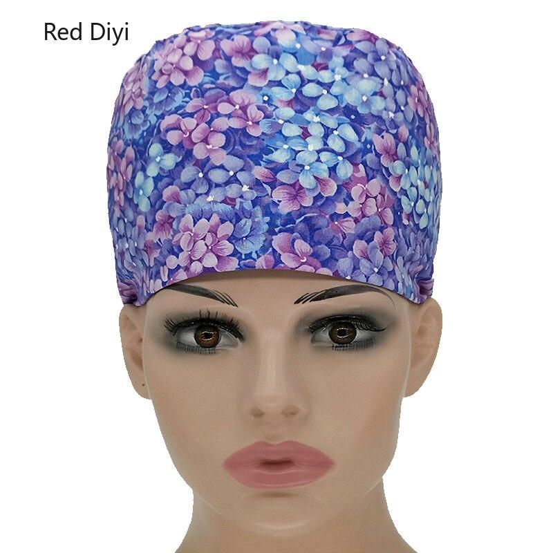 2c6b40c01a871 Médico gorras casquillo quirúrgico de impresión de algodón médico enfermera  tapa de laboratorio clínica Dental operación sombreros