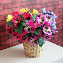 1 Pc Artificial Simulation Silk Flower Pansy Plant Wedding Party Home Table Garden Decoration