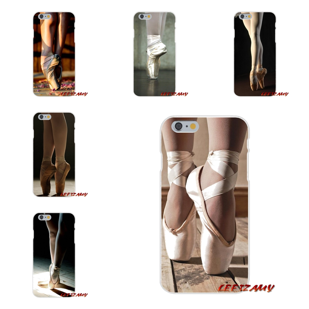 Accessories Phone Shell Covers For iPhone X 4 4S 5 5S 5C SE 6 6S 7 8 Plus Dancing Girl Dance Ballet sneaker Pointe Shoes