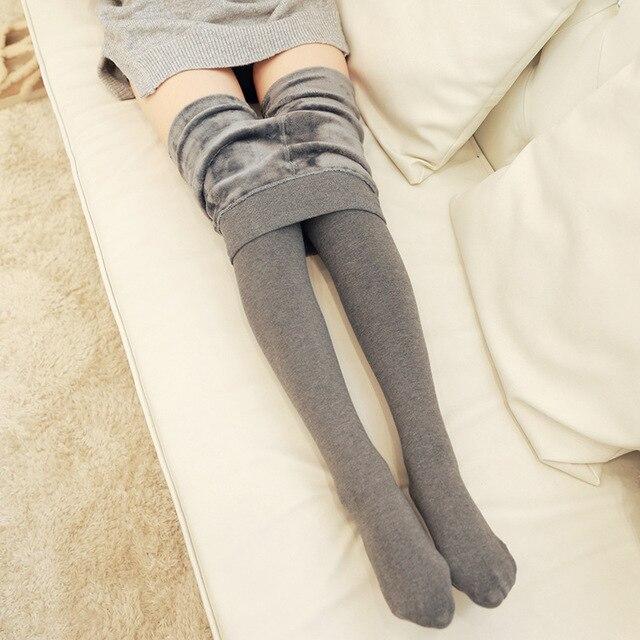 2016 Autumn Winter Thick Women Tights Sexy Women Cotton Pantyhose Step Foot Female Stockings Fashion Slim Tights KZ337