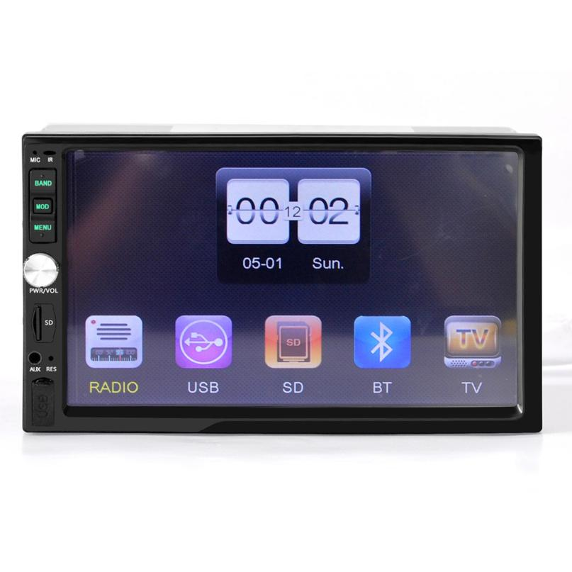 DVD Radio Car Electric Accessories Bluetooth Car Stereo Audio In-Dash Aux Input Receiver SD/USB MP5 Player  jul7 car usb sd aux adapter digital music changer mp3 converter for volkswagen beetle 2009 2011 fits select oem radios