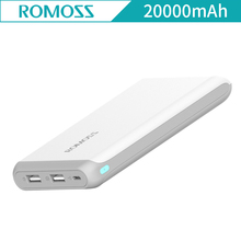 ROMOSS Arrow 20 Power Bank 20000mAh 2.1A Quick Charge Li-polymer Dual USB External Bank For iphone 7 plus for Xiaomi Arrow20