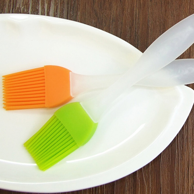 2 Pcs Hot Barbecue Brushes Silicone Basting Pastry Butter Oil Brush For Grilling Cake Pa ...
