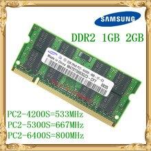 Ноутбук Samsung Память 1 Гб 2 Гб DDR2 533 667 800 МГц PC2-4200 5300 6400 ноутбук оперативная память 800 6400S 2G 200-pin