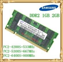 S amsungแล็ปท็อปหน่วยความจำ1กิกะไบต์2กิกะไบต์DDR2 533 667 800เมกะเฮิร์ตซ์PC2-4200 5300 6400โน๊ตบุ๊คRAM 800 6400วินาที2กรัมพิน