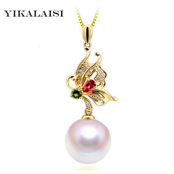 YIKALAISI 2017 Pearl Necklace Natural Pearl Jewelry Choker Necklace Pendant 925 Sterling Silver Jewelry For Women Gift