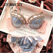 2015 sexy lingerie,bra brief sets, three-row Lace Embroidery underwear,sexy women bra set,france brand Intimates,Big Cup BC