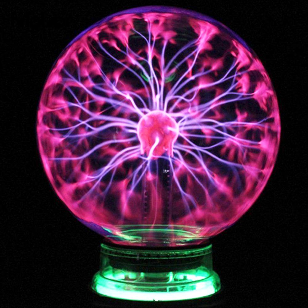 Magic Light Creative Beautiful Strange Plasma Ball 4 Inch Crystal Lightning Sphere Magic Crystal Lamp Magic Crystal Globe