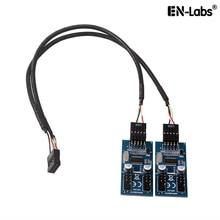 Материнская плата USB 2,0 9pin заголовок 1-4 удлинитель концентратор разветвитель адаптер конвертер USB 2,0 штекер 4 Male-30CM 9-pin внутренний кабель