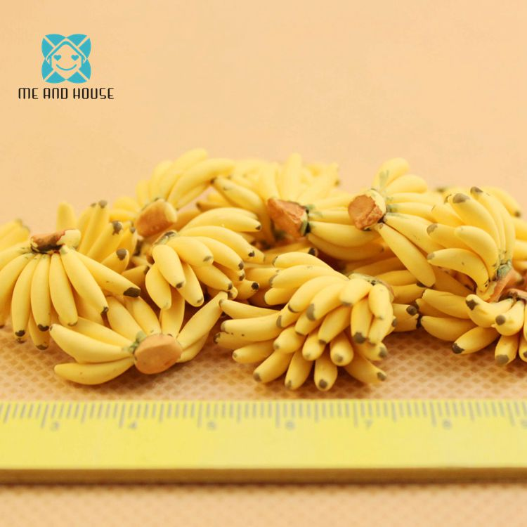 Мини ручной глина Фрукты Миниатюрный Кукольный Дом кухни Banana для куклы Кухня 5 шт.