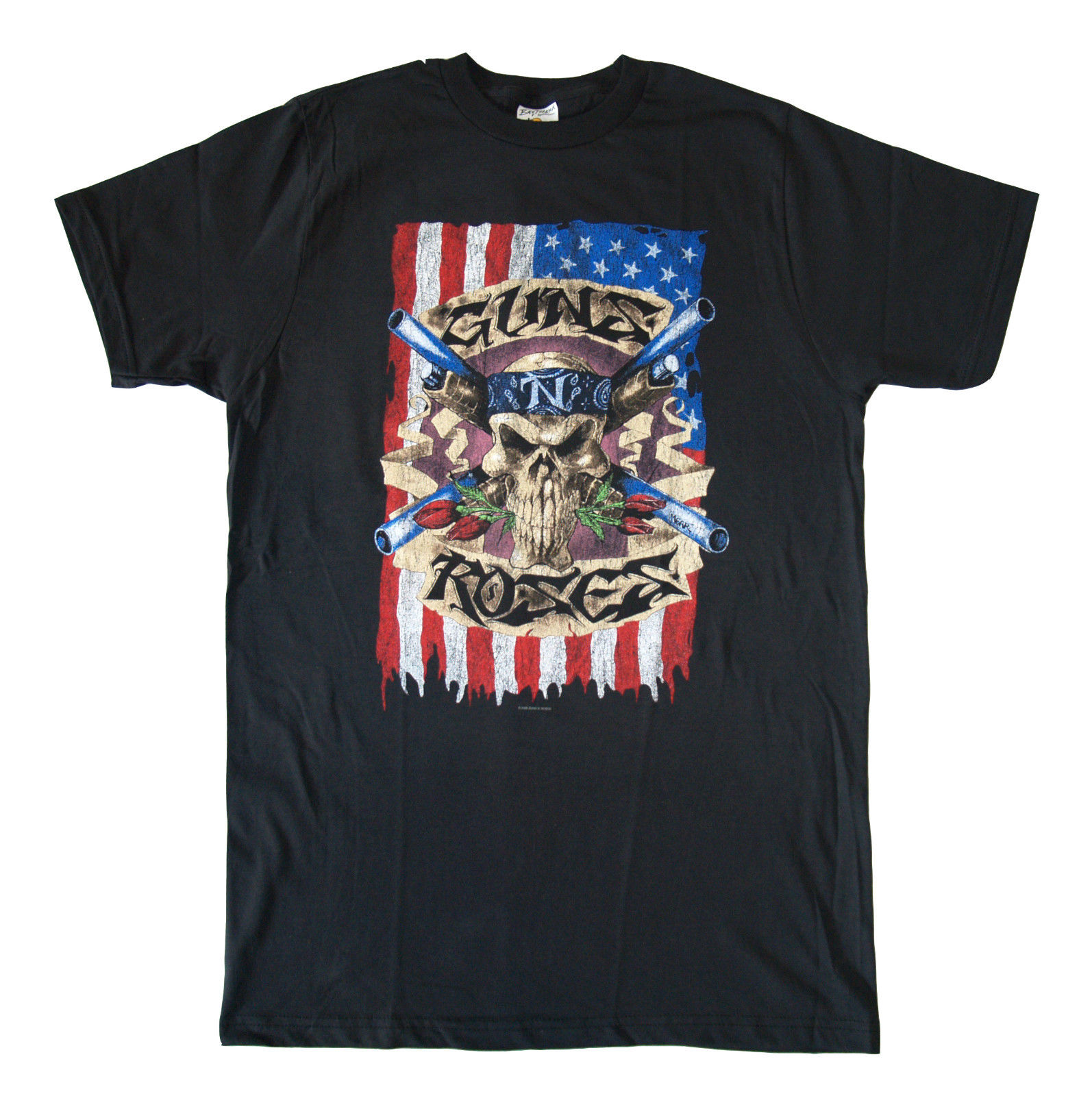 GUNS N ROSES - Vintage Skull Guns - T SHIRT S-M-L-XL-2XL Brand New Official