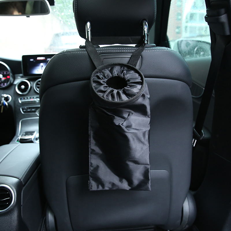 Car Trash Bag Seat Back Hanging Garbage Bin Dustbin Rubbish Tidying Portable Car Organiz ...