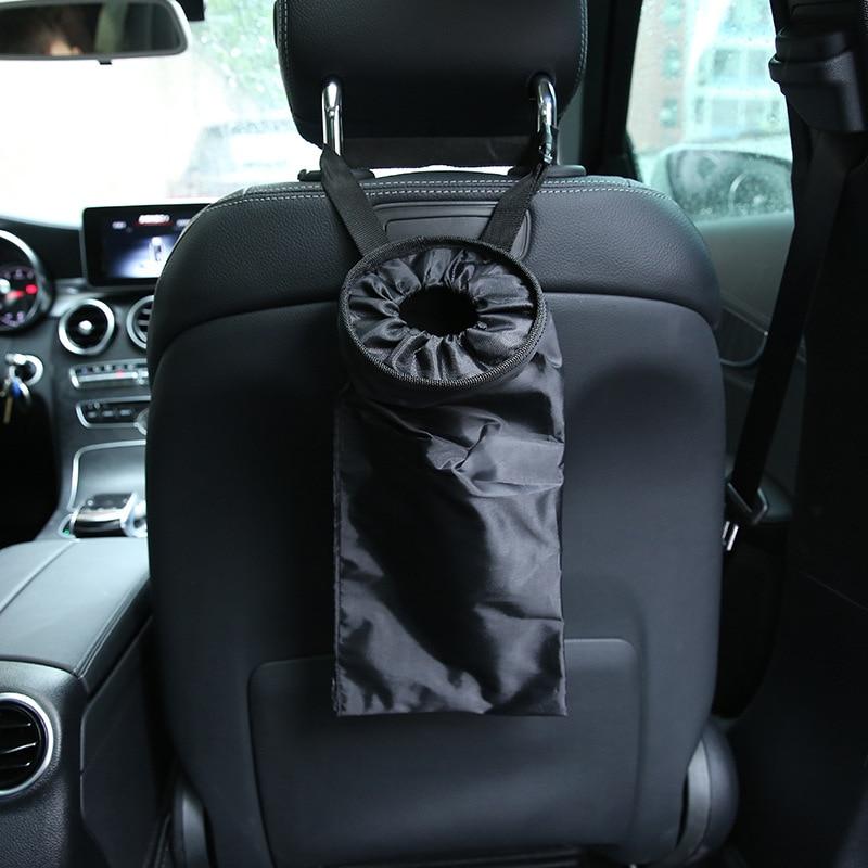 Simple Car Seat Back Hanging Trash Bag Rubbish Holder Stowin