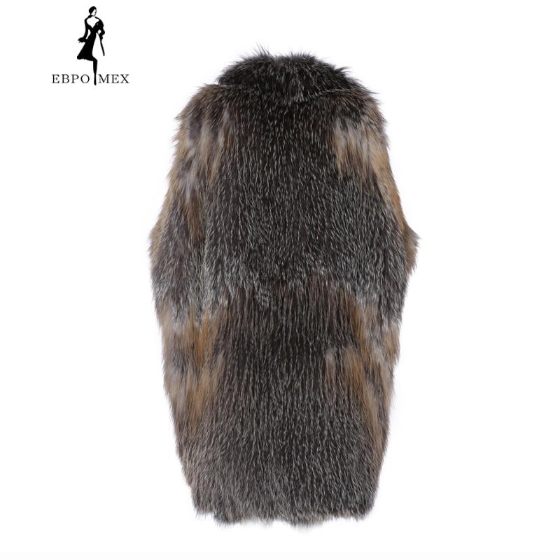 Dans Cuir Femmes Gradient Gamme La Color De Longue Gilet Mode Fourrure Renard En Lâche Transition Haut Herbe Veste Section Coréen wCSnq