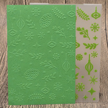 Branch Leaves Plastic Embossing Folders for DIY Scrapbooking Card Making Paper Craft Template