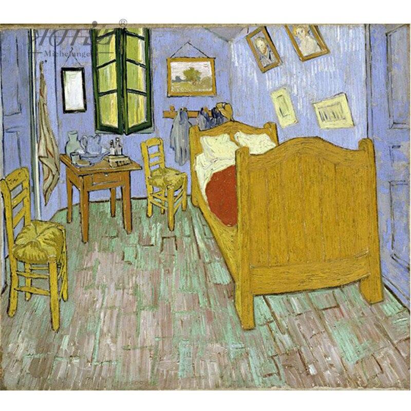 Us 1784 49 Offpuzzle Drewniane Michelangelo 500 Sztuk Stary Mistrz Sypialni W Arles Vincenta Obraz Van Gogha Zabawka Edukacyjna Prezent W Puzzle