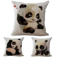 Смешная панда Подушки крышка Nordic Подушки хлопок белье Романтический диван автомобиля Спальня стул панда дома декоративные
