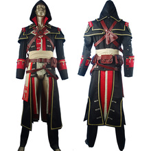 AC Rogue Shay Patrick Cormac Costume Hoodie Outfit Halloween Comic-con Cosplay Carnival Comic-con Anime Men Adults