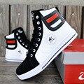 Nova Marca de Moda dos homens Sapatos Altos Sapatos Casuais Coreano Sapatos Botas Altas Patchwork Homens Casual Sapatos 3A
