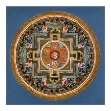 Tibetano budista thangka mandala tibete budista frescoliving decoração da sala