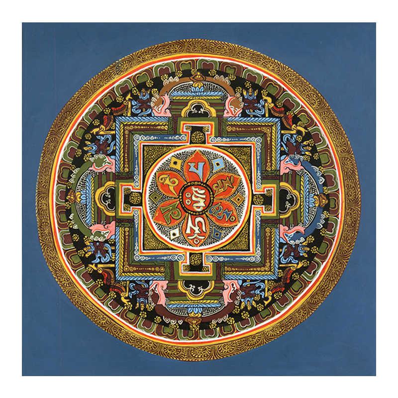 Tibetan Buddhist Thangka Mandala Tibet Buddhist fresco living room decoration