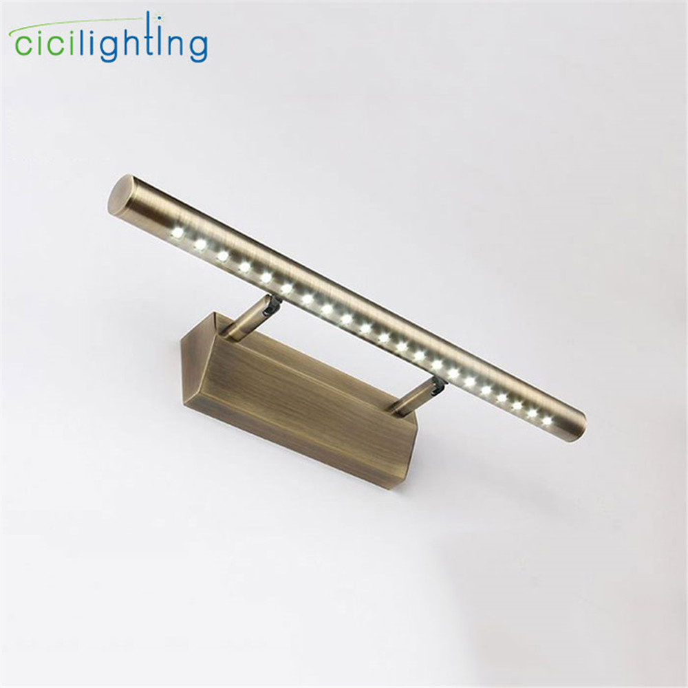 90V - 265V 5W 40cm Vintage European led mirror lights lamp Bronze Retro vanity lights LED Dress mirror bathroom wall sconces
