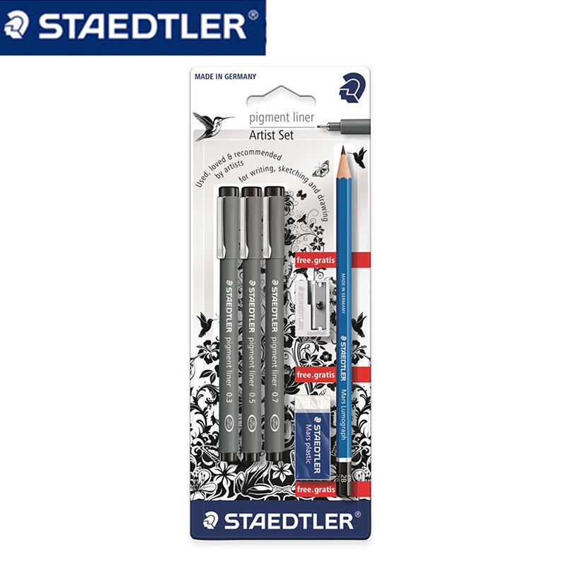 STAEDTLER 308 SBK3P 3 Pcs Art Markers Pens set Send backpack Stationery Office accessories School supplies