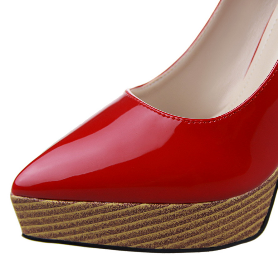 1f00b5382e Fashion wood grain women high heel shoes women pumps pointed toe platform  wedding shoes pumps 12.5cm B9266 2-in Women's Pumps from Shoes on  Aliexpress.com ...
