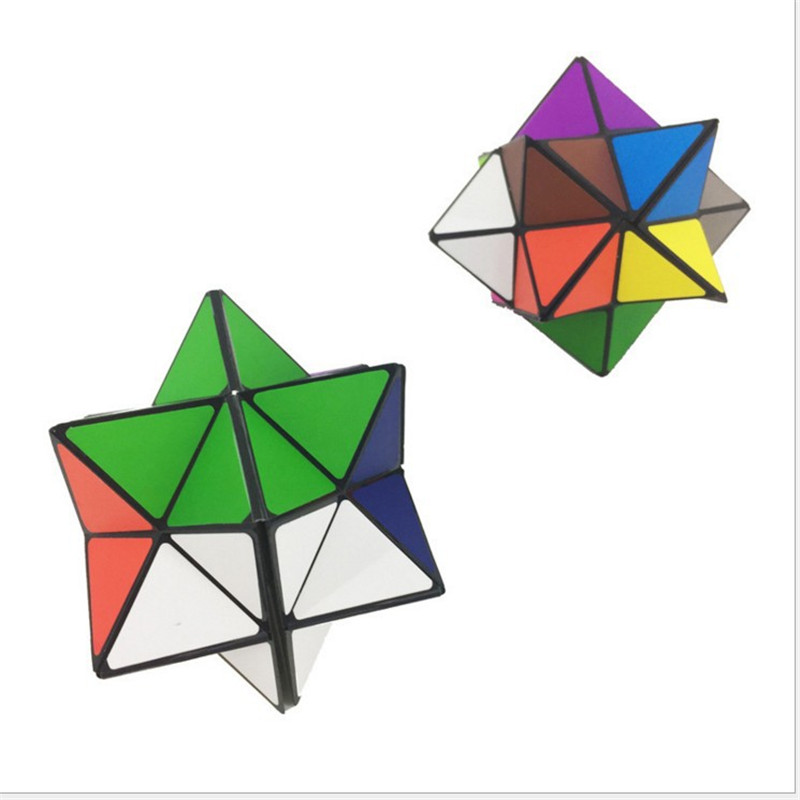 2 PCs In 1 Set Colorful Folding Cube Magic Star Infinite Cube Puzzle Toy Children Kids Gift Toy Youth Adult Instruction