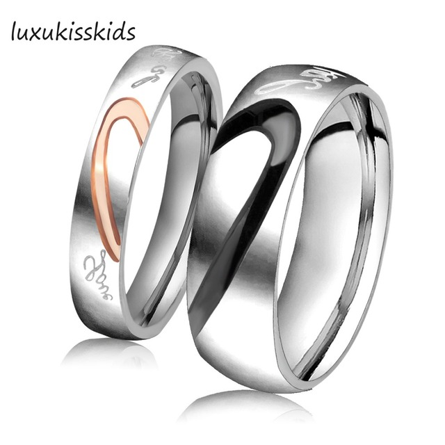 Luxukisskids Fashion My Love Wedding Rings For S New Design Stainless Steel Engagement Ring