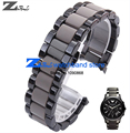 Stainless Steel watchband gray Rubber in Black Steel in for A1451 1452 man 22mm  woman 20mm watch strap wristwatches band