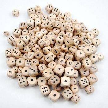 20mm kostki drewniane kostki okrągłe narożne zabawki dla dzieci gra 6 jednostronne kości hurtownia kostki do gry w pokera Dropshipping gra w kości tanie i dobre opinie LAIMALA shop941329