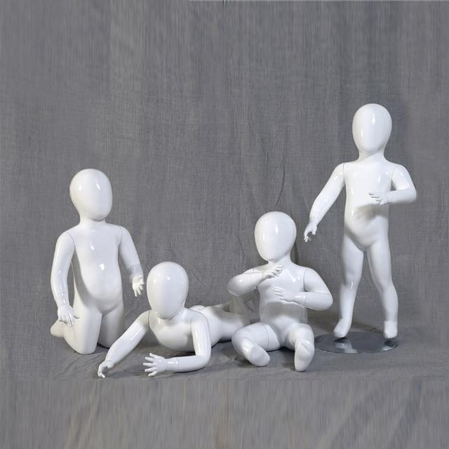 Glossy White Full Body Children Mannequin Boys Mannequin Fiberglass Mannequin,Kids Manikin, High Grade Model Factory Sale