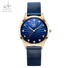 цена на Shengke Wrist Watch Women Fashion Stainless Steel Quartz Watches Female  Clock Relogio Feminino 2018 SK Luxury Ladies Watches
