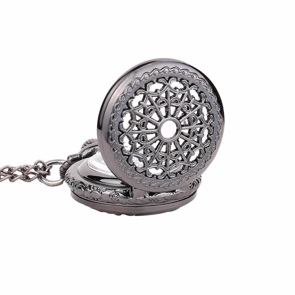 בציר עגול חיוג קוורץ קטן שעון כיס קלאסי רומי בקנה מידה כיס שעון גבר אישה ילד מתנת שרשרת שעון זוג ישן איש