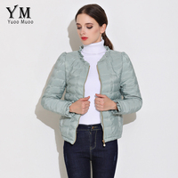 YuooMuoo Spring Autumn Jacket Women Fashion Slim Basic Coats Padded Cotton Outwear Windbreaker Women Short Jacket