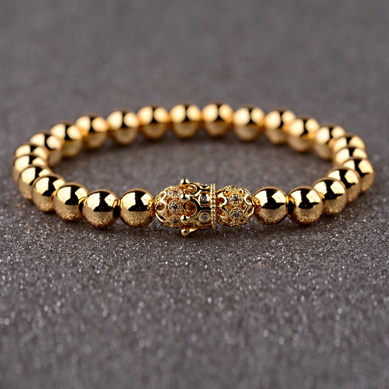 HTB1B5.EbcrrK1RjSspaq6AREXXa4 - Gold Crown coupe bracelets 2pcs set