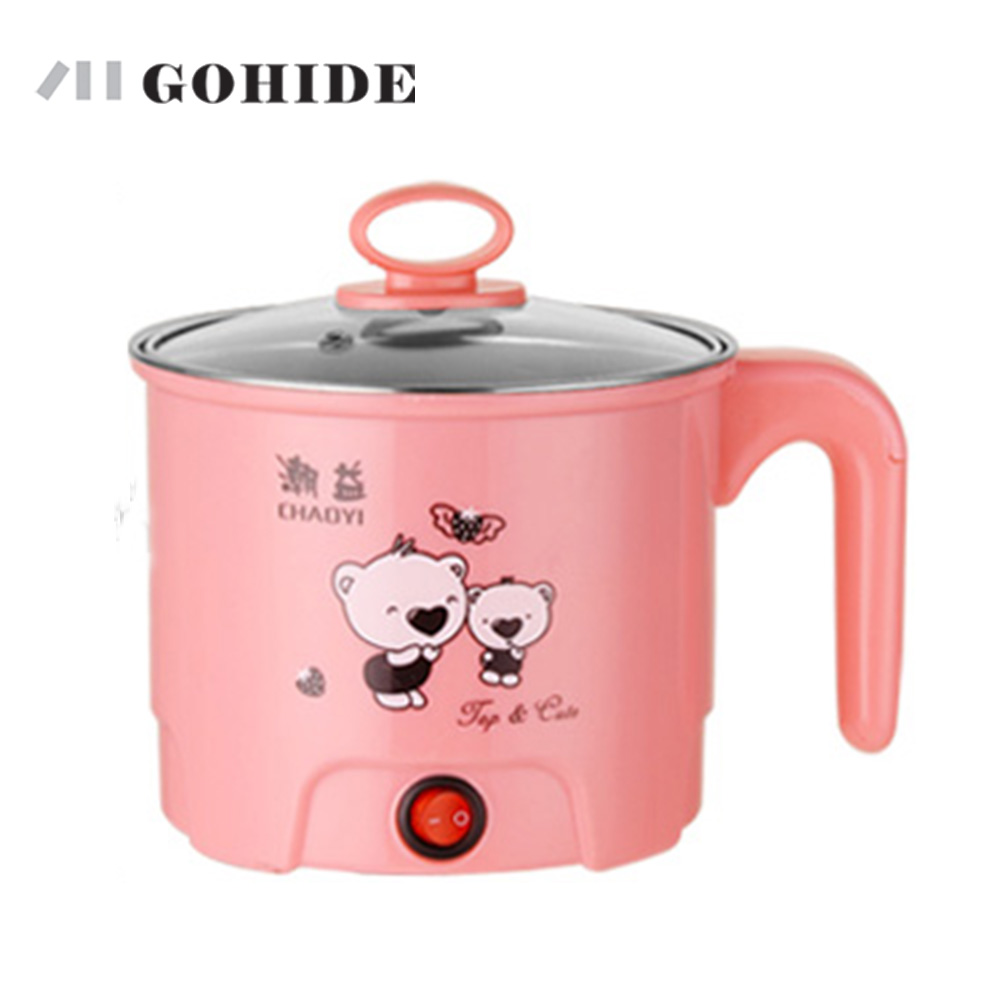GUH A Set Multi-functional Electric Skillet Electric Heating Pot Small Electric Hot Pot Egg Cooking Pot Electric Heating Cup